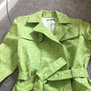 Liz Claiborne butterfly trench coat jacket